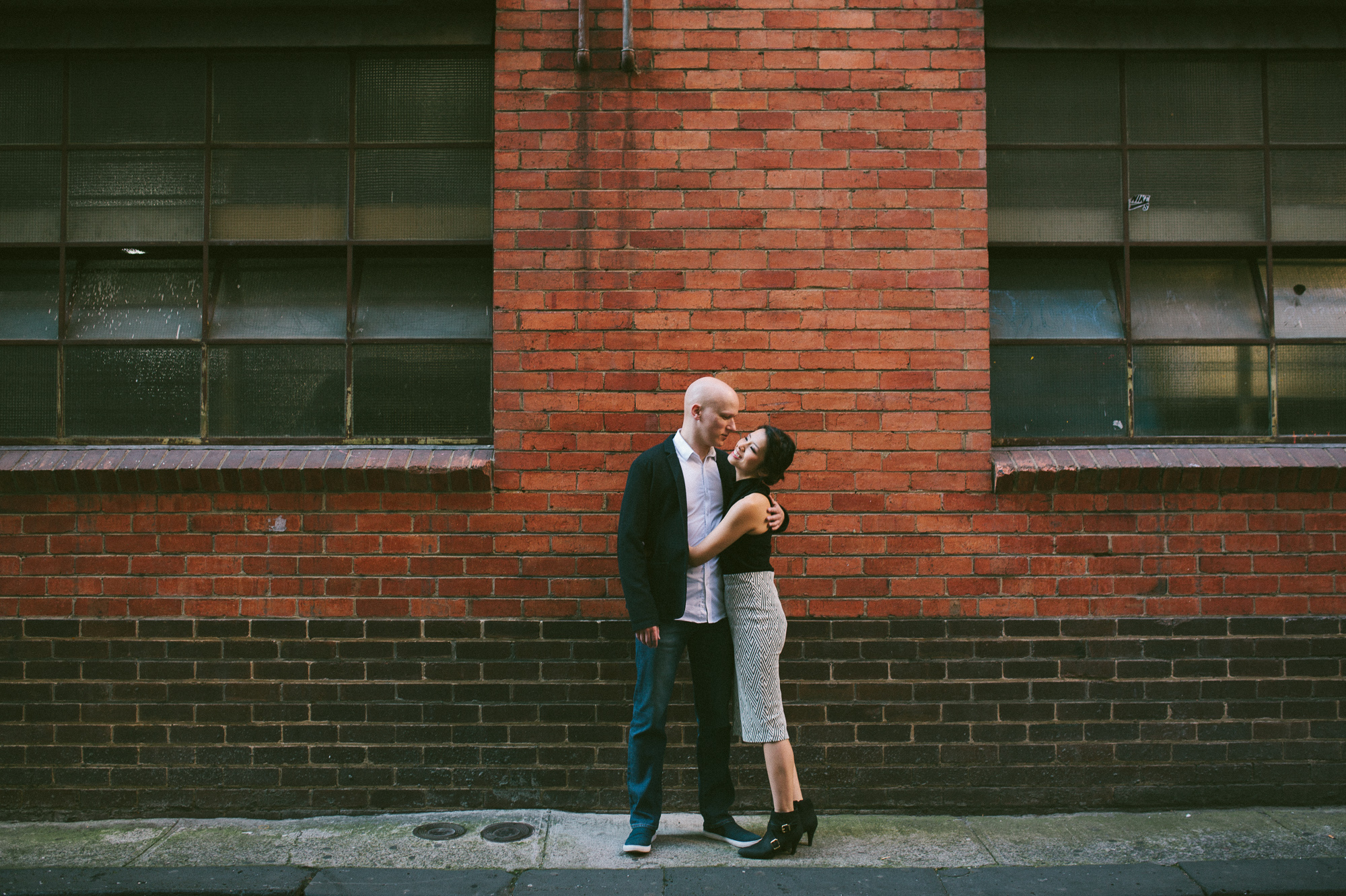 Elaine-Stephen-Engagement-Melbourne-Quirky-Urban-Engagement-Session-Wedding-Photography-1